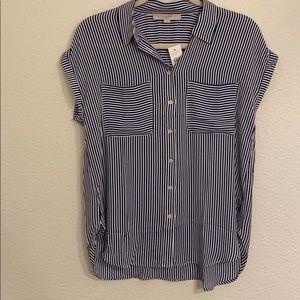 Striped Dolma Cap Sleeve shirt